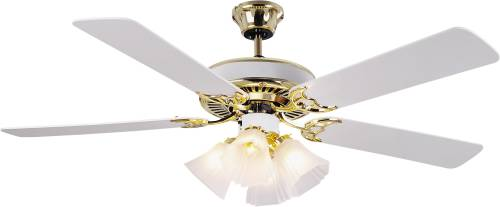 BALA® CEILING FAN WITH LIGHT KIT, FOUR 60 WATT INCANDESCENT CAN