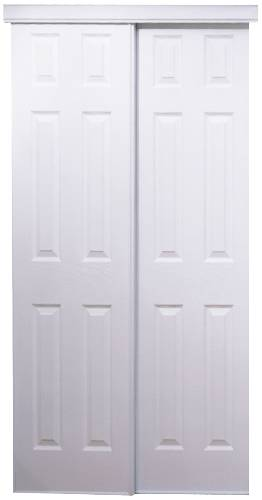Attirant 106 SERIES BYPASS DOOR 48 IN. X 80 IN. WHITE 6 PANEL