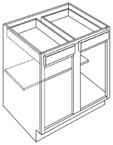 KITCHEN BASE CABINETS DOUBLE DOOR, FULL HEIGHT DOOR WITH SHELF,
