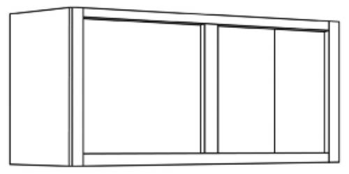 KITCHEN WALL CABINETS DOUBLE DOOR, 15 IN. H X 12 IN. D X 30 IN.