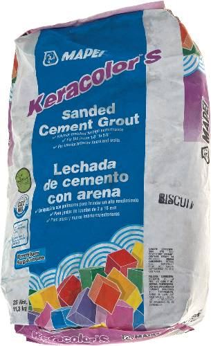 MAPEI SANDED GROUT BISCUIT 25LB