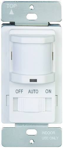 MOTION SENSOR 120V 800W LIGHTS OFF & OCC & VACANT SLIDE IVORY