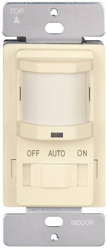 MOTION SENSOR 120V 500W LIGHTS OFF & AUTO & ON SLIDE IVORY