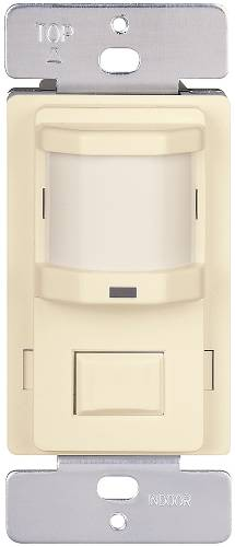 MOTION SENSOR 120V 500W LIGHTS OFF & AUTO PUSH BUTTON IVORY