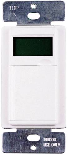 TIMER 7 DAY PROGRAMMABLE LCD DIGITAL IN WALL WHITE