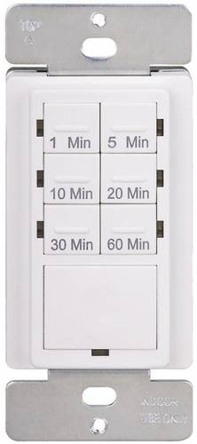 TIMER OFF & ON CONTROL FOR LIGHTS & APPLIANCES WHITE