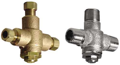 HYDROGUARD UNDER-THE-COUNTER COMBINATION TEMPERING VALVES, 1/2 I