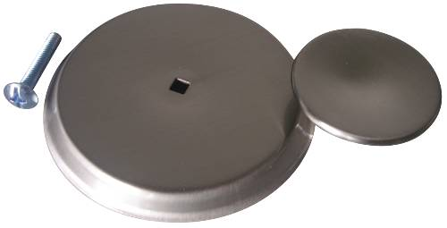 CABINET KNOB AND BACKPLATE SATIN NICKEL