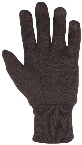 CLC COTTON JERSEY GLOVES BROWN