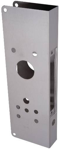 DON JO WRAP AROUND PLATE SCHLAGE AD MORTISE STAINLESS STEEL