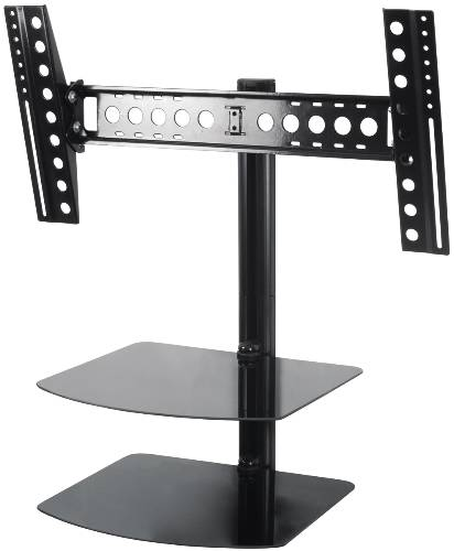 FLAT PANEL TV MOUNT TILT AND TURN WITH SINGLE AV SHELF FOR 12-25