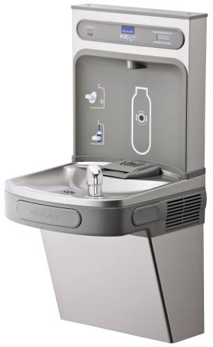 ELKAY WATER COOLER BOTTLE FILLING STATION, SINGLE, LT GRAY, REF