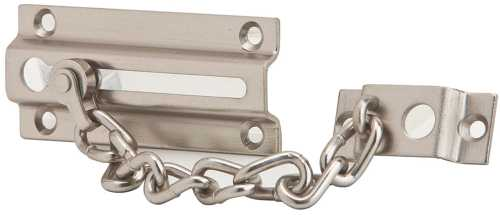 CHAIN DOOR GUARD SAT NICKEL