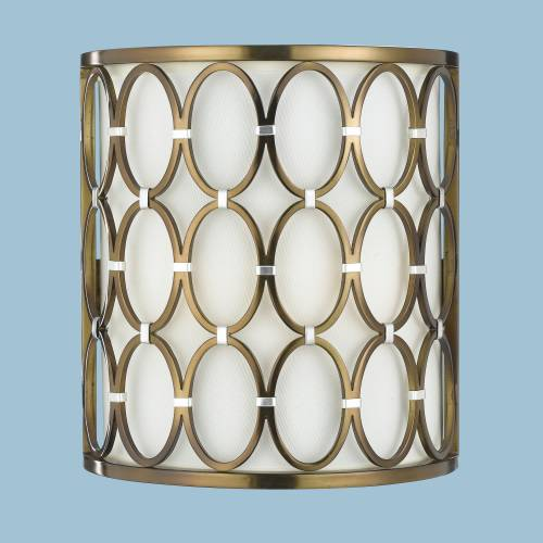 COSMO 1/2 ROUND WALL SCONCE - SATIN BRASS