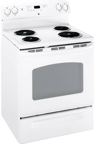 GE 30 IN. FREE-STANDING ELECTRIC RANGE WHITE