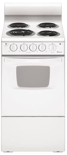 "AMANA ELECTRIC RANGE 20"" FREE STANDING 2.6 CU. FT. WHITE"