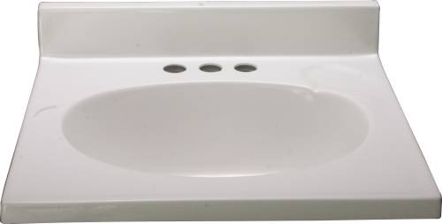 VANITY TOP CULTURED MARBLE WHITE 19 IN. X 17 IN.