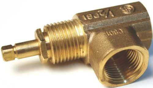 ANGLE GAS VALVE FOR NG OR LP