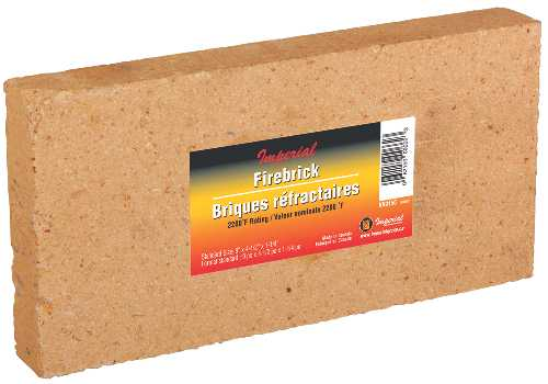 FIRE BRICK 9 IN. x 4-1/2 IN. x 1-1/4 IN. 6/CS