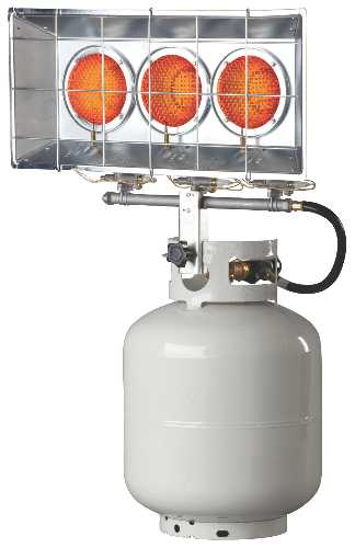 HEATER TRIPLE HEAD PORTABLE TANK MOUTED