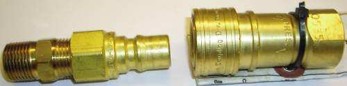 QUICK CONNECTOR FITTING FOR PROPANE OR NATURAL GAS 3/8 IN. MALE