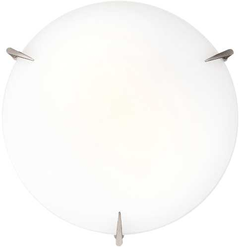 CEILING FIXTURE 12 IN. BRUSHED STEEL