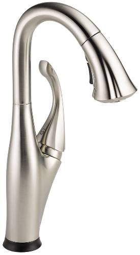 DELTA ADDISON SINGLE HANDLE PULL-DOWN BAR/PREP FAUCET FEATURING