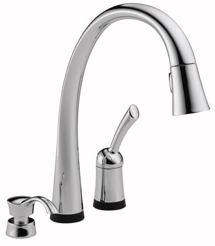 DELTA PILAR SINGLE HANDLE PULL-DOWN KITCHEN FAUCET WITH TOUCH2O