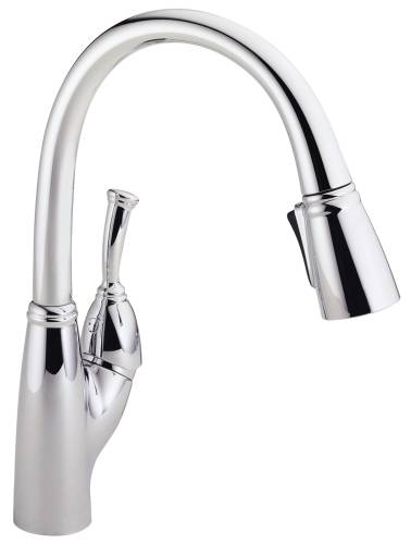 DELTA ALLORA SINGLE HANDLE PULL-DOWN KITCHEN FAUCET, CHROME