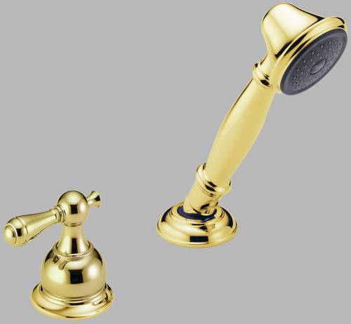 DELTA VICTORIAN ROMAN TUB HANDSHOWER WITH TRANSFER VALVE, POLISH