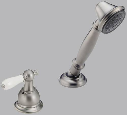 DELTA VICTORIAN ROMAN TUB HANDSHOWER WITH TRANSFER VALVE, STAINL