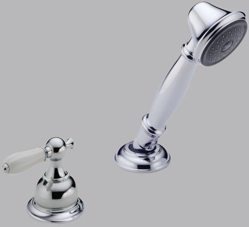 DELTA VICTORIAN ROMAN TUB HANDSHOWER WITH TRANSFER VALVE, CHROME