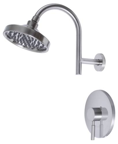 ESSEN™ SHOWER FAUCET SINGLE METAL LEVER HANDLE, BRUSHED NICKEL