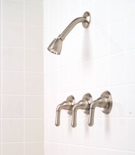 SANIBEL SHOWER FAUCET CERAMIC DISC BRUSHED NICKEL
