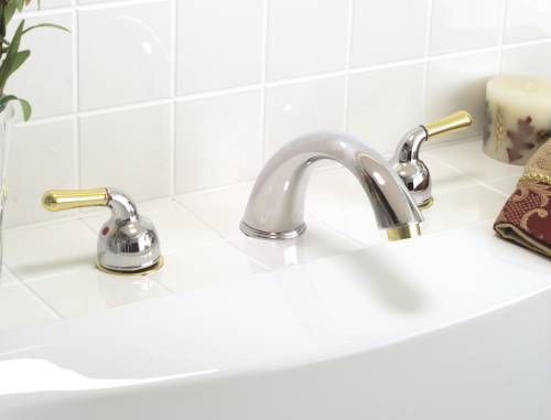 SANIBEL ROMAN TUB FAUCET CHROME/POLISHED BRASS