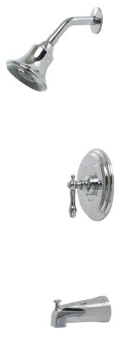 CHARLESTOWN TUB & SHOWER FAUCET CHROME PLATED