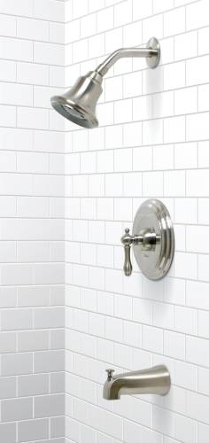 CHARLESTOWN TUB & SHOWER FAUCET BRUSHED NICKEL FINISH
