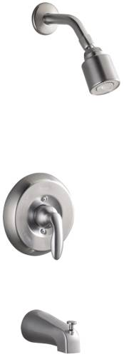 CORALAIS BATH AND SHOWER MIXING VALVE FAUCET TRIM, BRUSHED CHROM