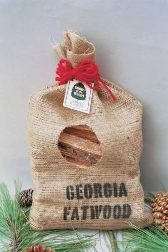 FATWOOD BURLAP BAG