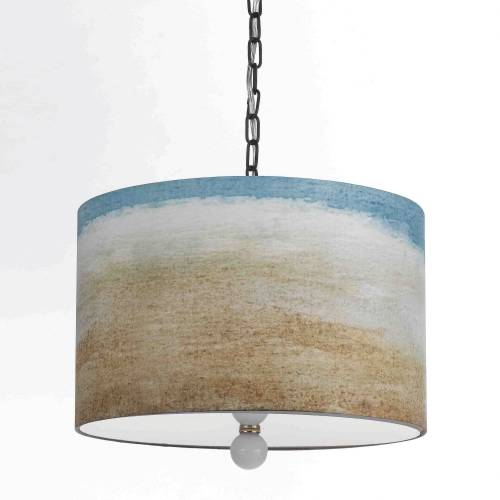 TRANSITIONAL SEASIDE PENDANT, 3 BULBS