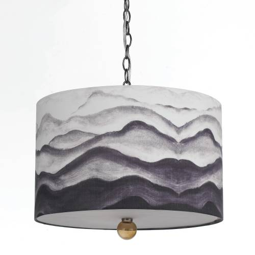 TRANSITIONAL MOUNTAIN AIR PENDANT, 3 BULBS