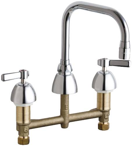CONCEALED HOT AND COLD WATER SINK FAUCET 6-1/4 IN. SWING SPOUT W