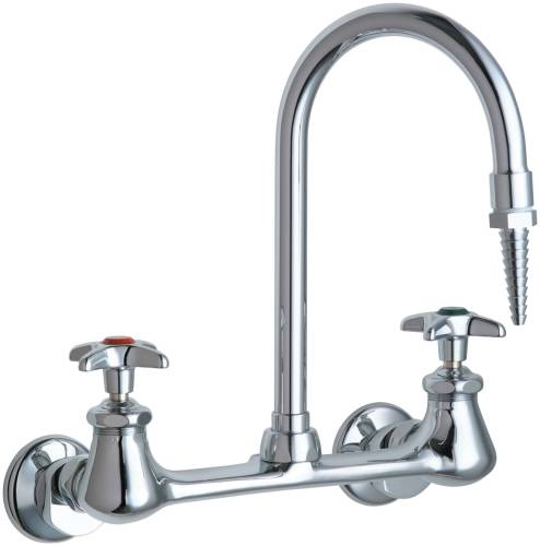 HOT AND COLD WATER INLET FAUCET, 5-1/4 IN. SWING SPOUT, 2-1/2 IN