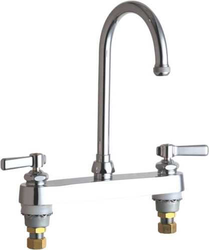 HOT AND COLD WATER SINK FAUCET 5-1/4 IN. GOOSENECK SPOUT WITH TW