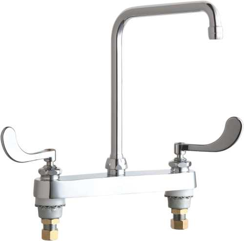 HOT AND COLD WATER SINK FAUCET 6-1/4 IN. SWING SPOUT WITH TWO WR