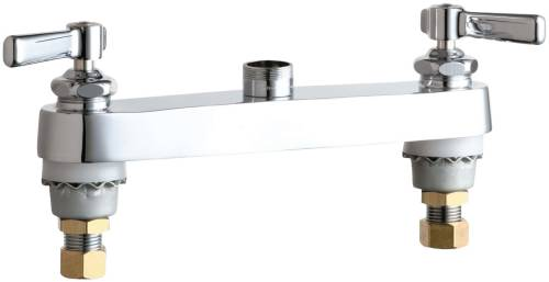 HOT AND COLD WATER SINK FAUCET WITH TWO LEVER HANDLES