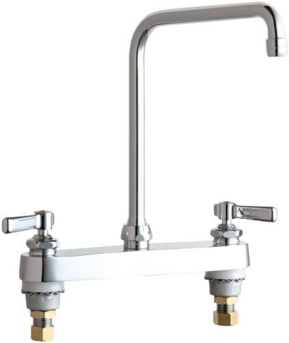 HOT AND COLD WATER SINK FAUCET 8 IN. SWING HIGH ARCH SPOUT WITH