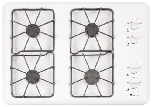 WHIRLPOOL GAS COOKTOP 30 IN. WHITE