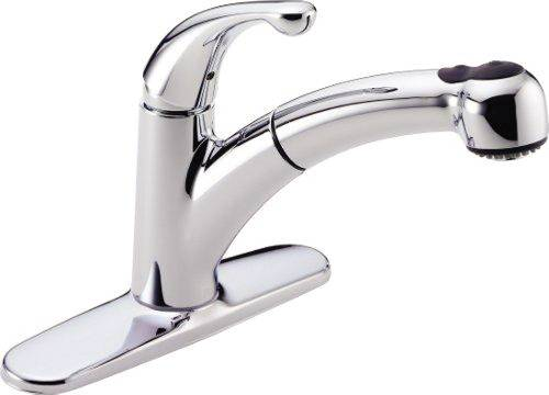DELTA PALO KITCHEN FAUCET WITH PULL OUT CHROME