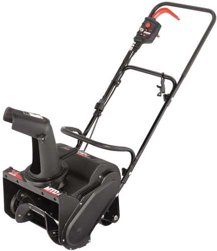 11 AMP SINGLE STAGE SNOW THROWER 14 IN. CLEARING